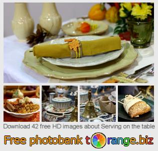 Image bank tOrange offers free photos from the section:  serving-table