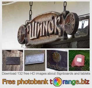 Image bank tOrange offers free photos from the section:  signboards-tablets