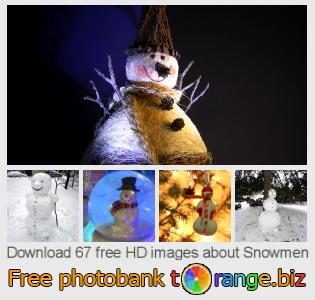 images free photo bank tOrange offers free photos from the section:  snowmen