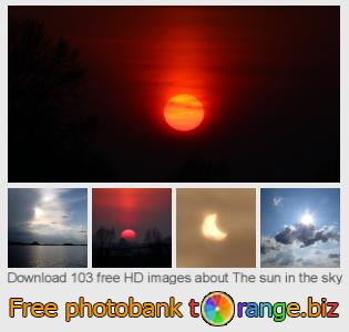 Image bank tOrange offers free photos from the section:  sun-sky