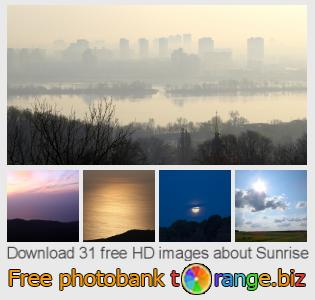 Image bank tOrange offers free photos from the section:  sunrise