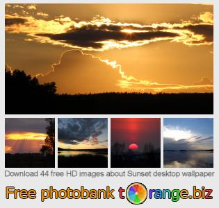 Image bank tOrange offers free photos from the section:  sunset-desktop-wallpaper