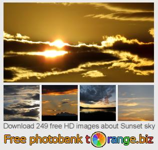 Image bank tOrange offers free photos from the section:  sunset-sky
