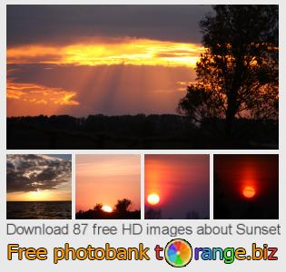 Image bank tOrange offers free photos from the section:  sunset