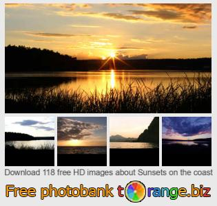 images free photo bank tOrange offers free photos from the section:  sunsets-coast