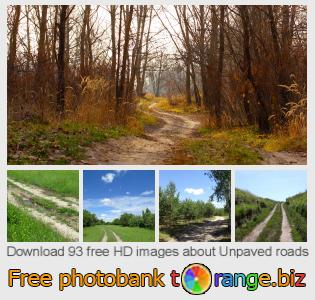 Image bank tOrange offers free photos from the section:  unpaved-roads
