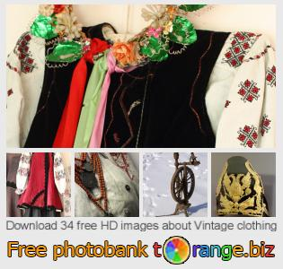 Image bank tOrange offers free photos from the section:  vintage-clothing