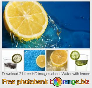 Image bank tOrange offers free photos from the section:  water-lemon