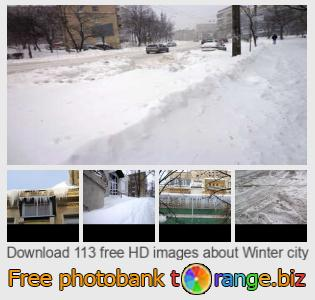 Image bank tOrange offers free photos from the section:  winter-city