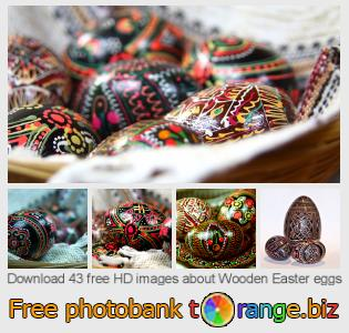 Image bank tOrange offers free photos from the section:  wooden-easter-eggs