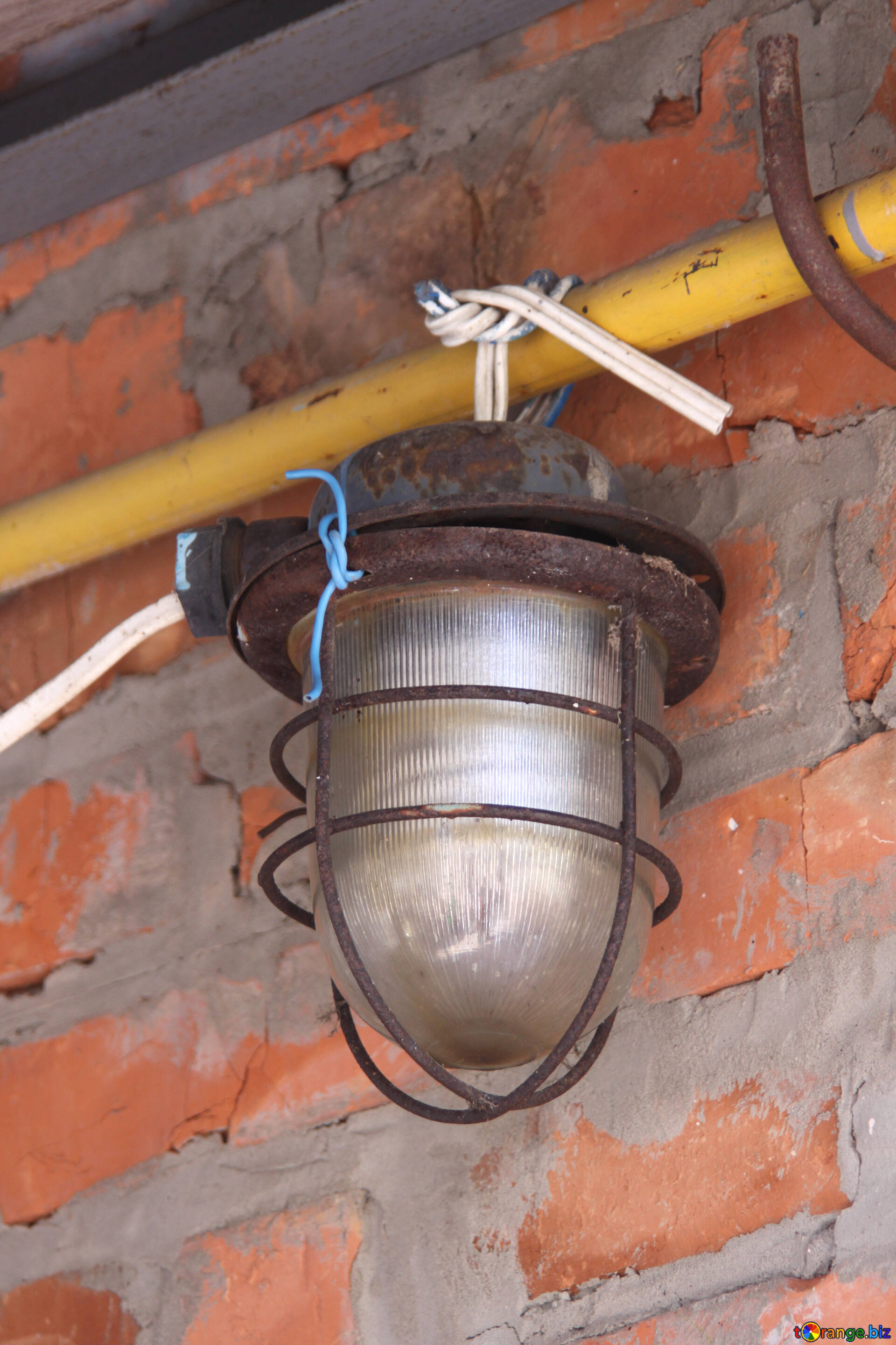 Electricity Street Lamps Waterproof Against Brick Wall On The Wire Wiring In Download Free Image Hd Wallpaper Size 1920px
