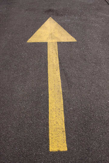 Marking advance on asphalt the yellow  №858