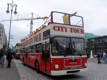 Red storey Tour Bus №239