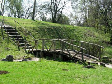 The bridge wooden  №587