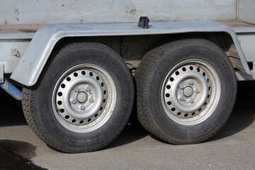 The wheels two-axle trailer №868