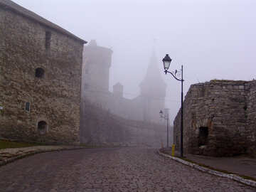 Ancient streets of the ancient city in the mist №352