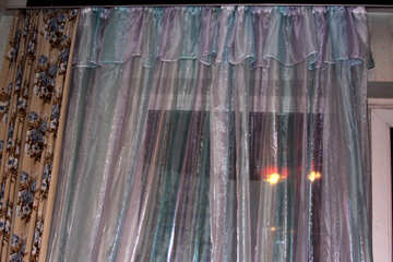 Organza curtains at dusk №981