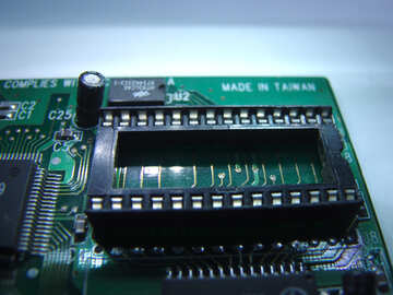 Socket for memory chips