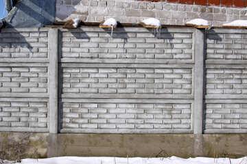 Concrete fence texture №812