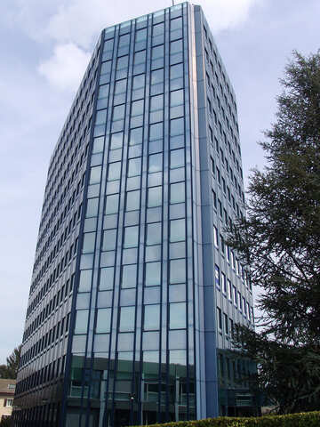 Modern high-rise building with glass facades №368