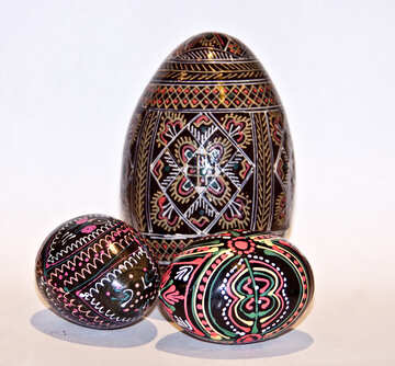 Easter composition of Easter eggs №986