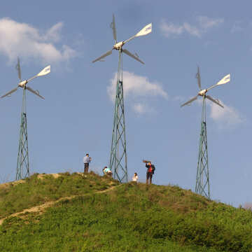 Three wind turbine on the hill №631
