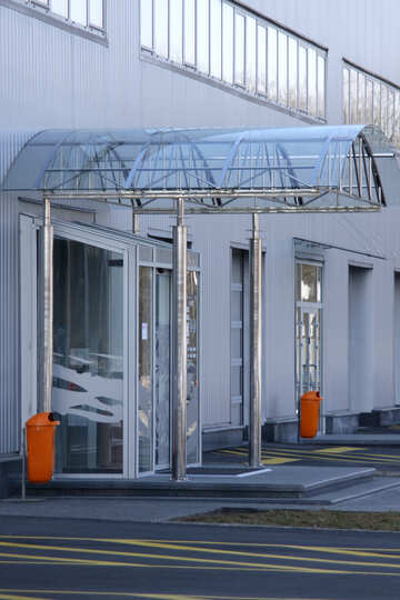 Glass canopy over the entrance №912