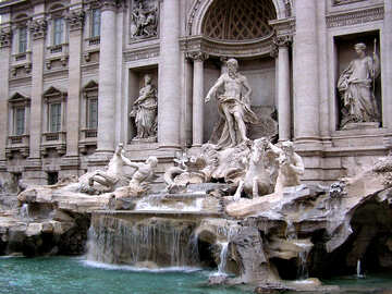 Rome Trevi Fountain Fontana di Trevi №317