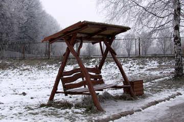 Negozio di legno con un baldacchino №626