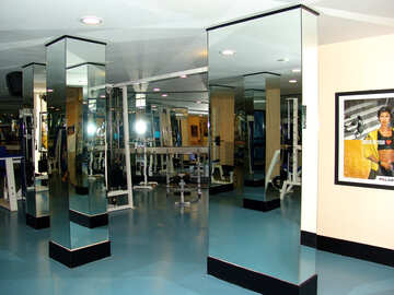 Mirror column in the fitness room №181