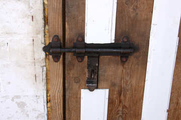 Gate metal brace to your ear for zmka on the wooden barn door №745