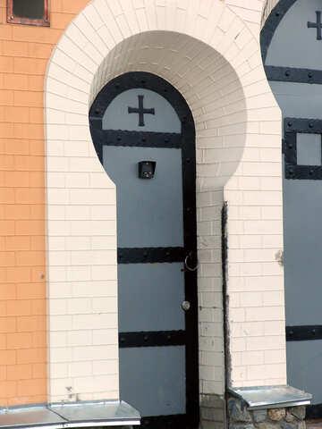Input in church with the on-door speakerphone №605