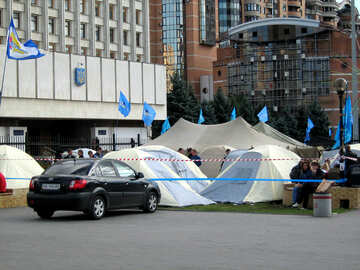 Supporters of the Party of Regions protest at Fairgrounds №620