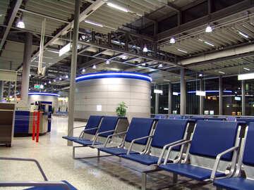 sillas en la sala de espera, bancos sillas  №452