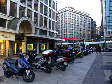 Parking for motorcycles and mopeds in the area №374