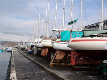 Yachts on the stocks with stern look №442