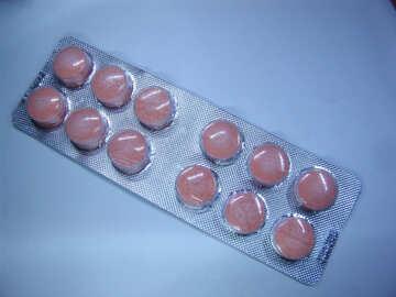 Blase mit Rosa Tabletten Vtaminy №655