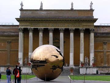 Moderno alto tecnologia scultura prima antico costruzione