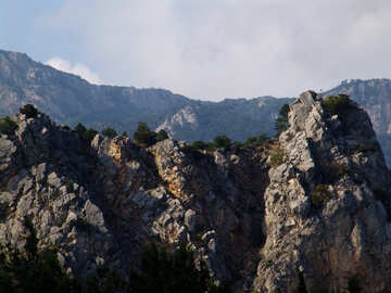 Rock mountains in the background №205