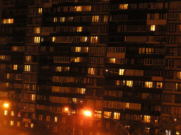 Night windows of flats №213