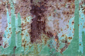 The old paint on rusty sheet №521