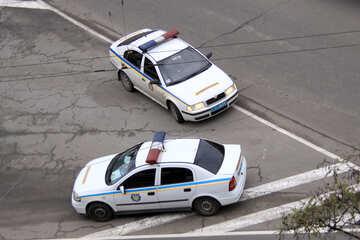 Ukrainisch  Straße  Polizei GAI №482