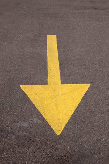 Partitionierung Bewegung zurück auf dem Bürgersteig in Gelb №860