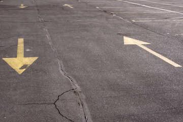 Partitionierung Hin und Her auf dem Bürgersteig in Gelb №859