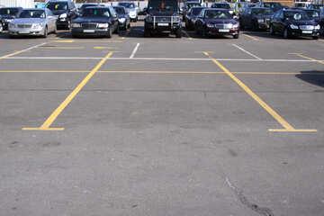 Parken auf dem Bürgersteig Kennzeichnung gelb №861