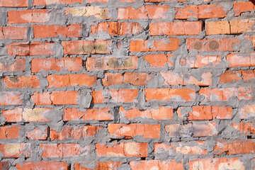 Una tessitura muro di mattoni rossi №808