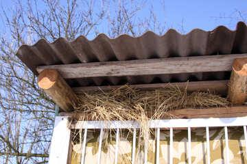 Hay, under slate roof enclosure №495