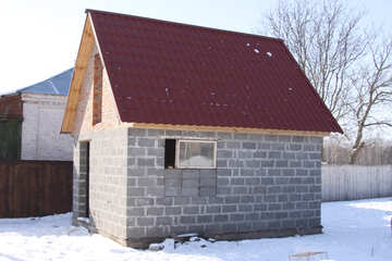 A box rural home under the roof of the metal №484