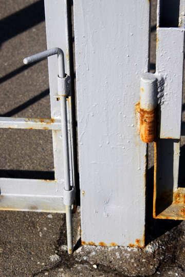 Zasov metallic vertical rail gate №762