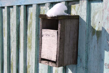Rural mailbox from tree on the fence. №694